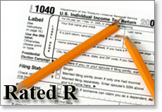 Picture of IRS Tax Extension (R Rated)